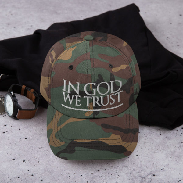 in god we trust - American Czar - 'In God We Trust' is more than just our national motto – it's our foundation and identity as Americans. This declaration was adopted as the official motto of the United States by Congress in 1956. Wear it proudly! Dad hats aren't just for dads. This one's got a low profile with an adjustable strap and curved visor.