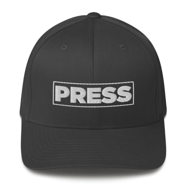 Press - American Czar - Member of the PRESS Freedom of the press in the United States is legally protected by the First Amendment to the United States Constitution. Let people know that you're protected by the Free Speech and Free Press Clauses with this simple but effective print. (neither of which differentiates between media businesses and nonprofessional speakers). Available in two sizes with an elastic stretch band, this hat is a sure winner in comfort! It has an athletic shape with a curved visor.