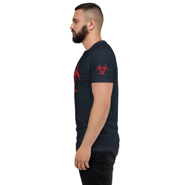 Biohazard - American Czar - <h3>Biohazard T-shirt</h3> Great way to fend off others when it gets too peoply. Not because of the current virus, just cause you don't want people near you AT ALL. This t-shirt is comfortable, soft, lightweight, and form-fitting. It's an ideal staple piece for any wardrobe!