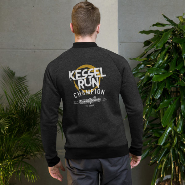Bomber Jacket - American Czar - Here's your opportunity to let the universe know you did the Kessel Run in 12 Parsecs! (If you round down) Kessel Run Champion Bomber Jacket (Star Wars Inspired) Hokey religions and ancient weapons are no match for a good blaster at your side and this awesome Kessel Run Bomber Jacket.