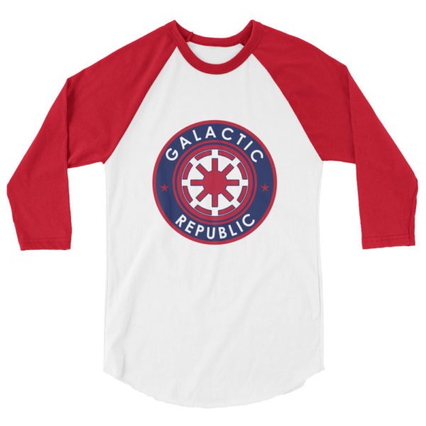 Galactic Republic - American Czar - Washington Nationals Inspired Galactic Republic (Star Wars) 3/4 sleeve raglan shirt A stylish spin on the classic baseball raglan. The combed cotton blend makes it super soft, comfortable, and lightweight.