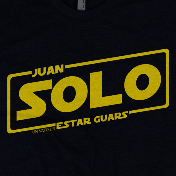 Juan Solo - American Czar - Funny take on a classic. Rock the brand new Juan Solo ' Un Vato de Estar Guars' Shirt! With a 65-35 blended fabric, this Next Level Apparel shirt doesn't get any softer.This t-shirt runs a little small, so consider going up a size if you don't like a snug shirt.