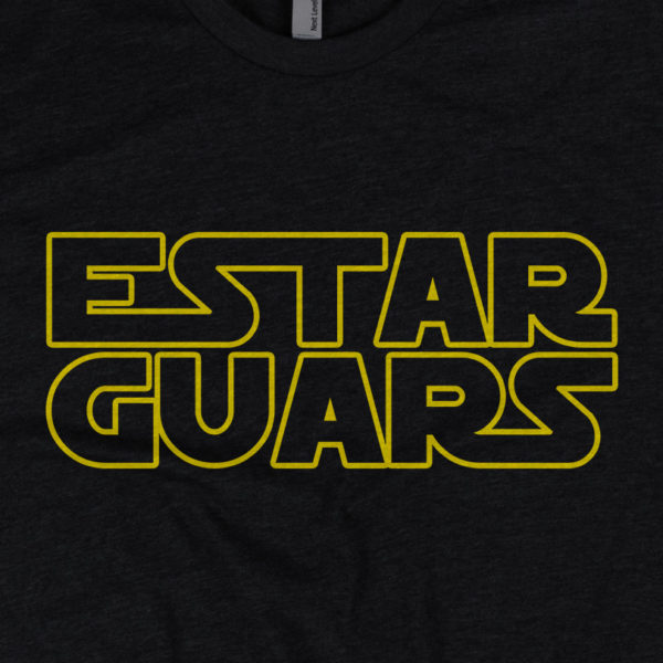 Estar Guars - American Czar - Estar Guars Tee. Awesome. Nuf Said. With a 65-35 blended fabric, this Next Level Apparel shirt doesn't get any softer. This t-shirt runs a little small, so consider going up a size if you don't like a snug shirt. This t-shirt is comfortable, soft, lightweight, and form-fitting. It's an ideal staple piece for any wardrobe!