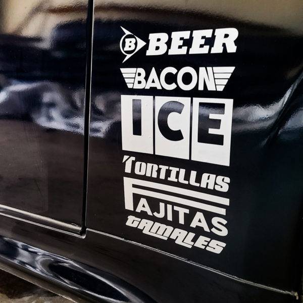 Party Shopping List in Racing Car Sponsor Form Decal