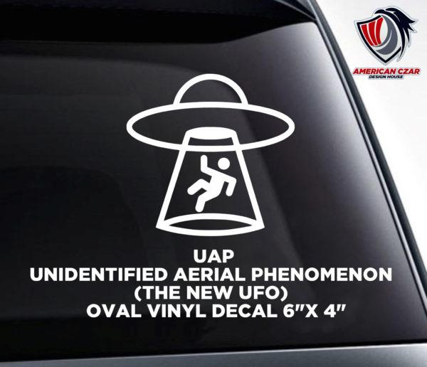Alien Abduction in Progress Vinyl Decal